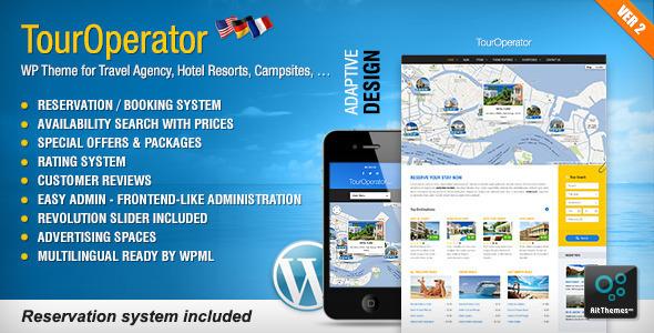 WordPress主题 Tour Operator旅行社