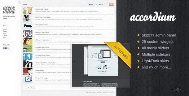 wordpress Accordium汉化版个性化博客主题