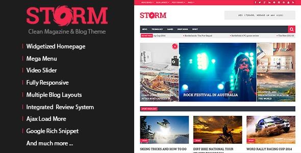 Storm 杂志博客 WordPress主题