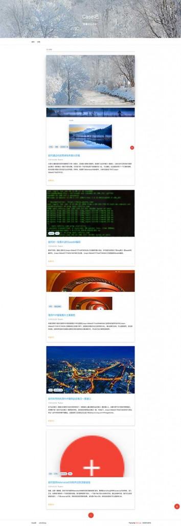 MAD – 自适应 Material Design 单栏 WordPress博客主题