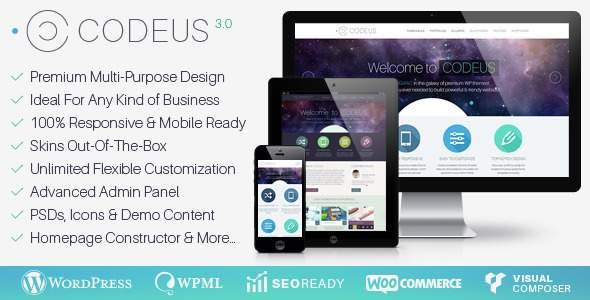 wordpress企业主题 Codeus响应式设计