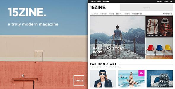 15Zine 新闻杂志WordPress主题