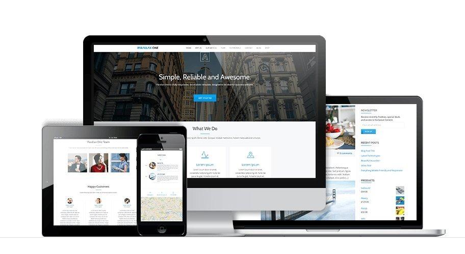 WordPress 单页视差企业主题 Parallax One