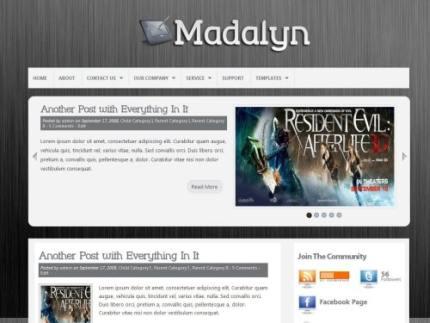 电影展示门户网站主题:Madalyn