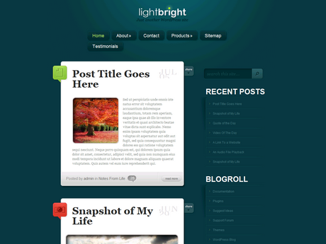 [推荐]Elegantthemes wordpress博客主题 – LightBright