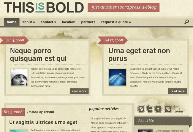 ElegantThemes wordpress主题 – Bold