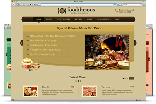 wordpress美食主题-Templatic Foodilicious