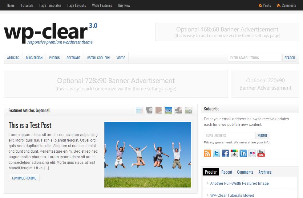 wordpress cms主题/新闻资讯主题 – WP-Clear v3.2.1