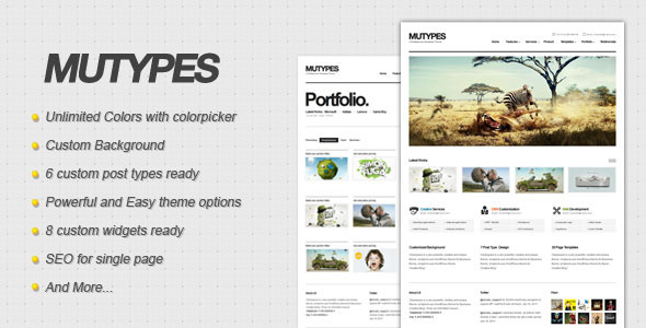 ThemeForest wordpress企业主题 – Mu Types