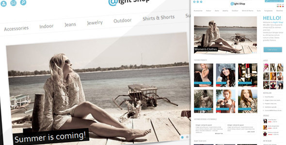 ThemeForest wordpress博客主题 – Aight Shop