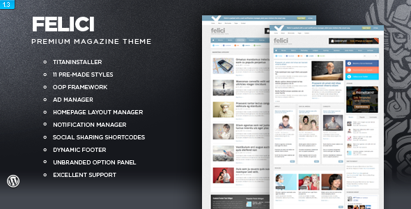 ThemeForest wordpress杂志主题 – Felici