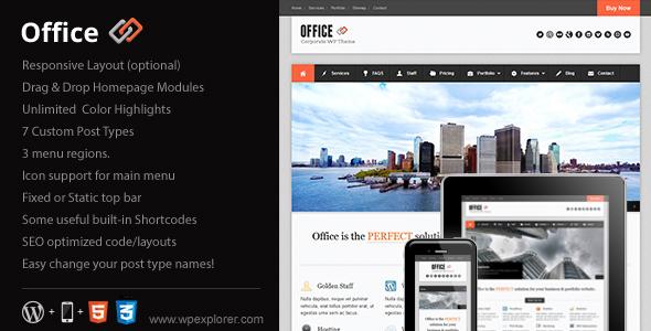 ThemeForest wordpress企业主题 – Office v1.97