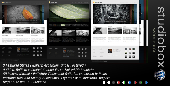 ThemeForest wordpress企业主题 – Studio Box v1.4