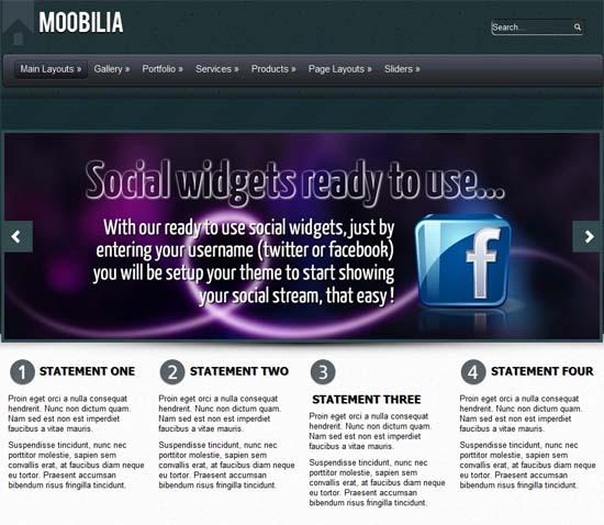 wordpress企业主题 – Moobilia