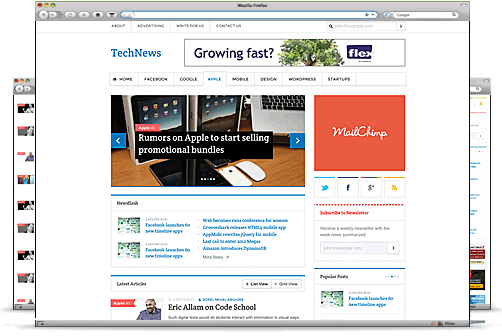 Templatic wordpress新闻资讯主题 – TechNews