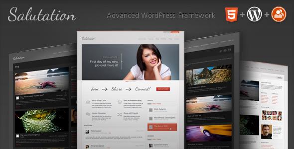 WordPress+BuddyPress主题 – Salutation