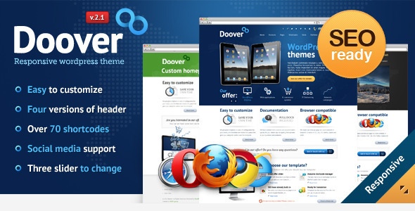 ThemeForest wordpress企业主题 – Doover
