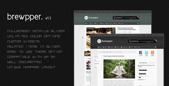 ThemeForest wordpress cms主题 – Brewpper