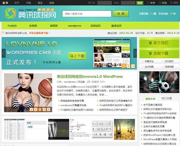 WordPress cms主题 – lovnvns