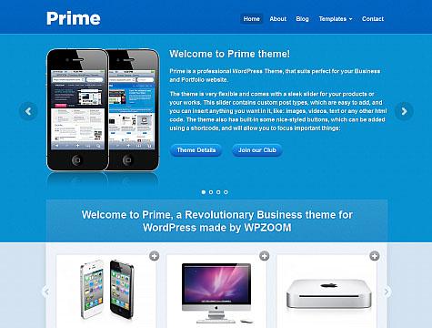 WPZOOM wordpress企业主题 – Prime