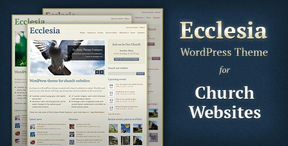 ThemeForest wordpress主题 – Ecclesia