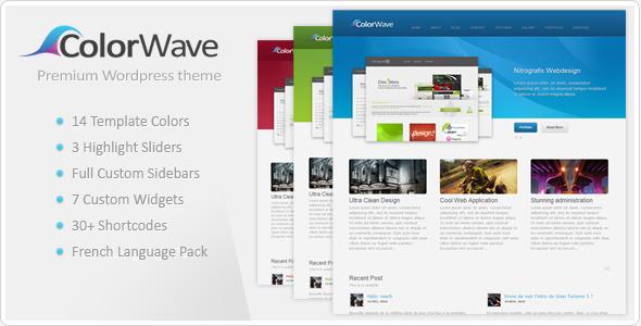 ThemeForest wordpress企业主题 – Colorwave