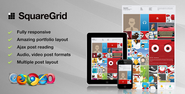 ThemeForest wordpress图片主题 – SquareGrid