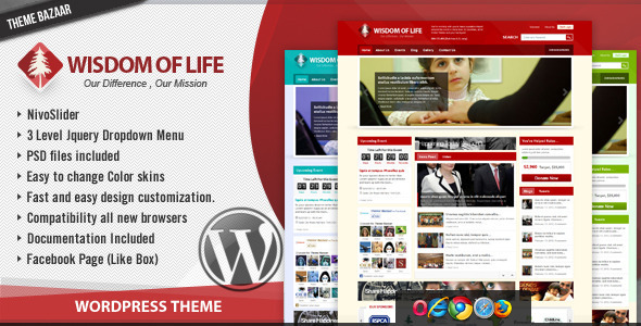 ThemeForest wordpress主题 – Wisdom Of Life