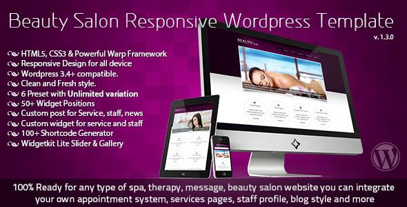 wordpress企业主题 – Beauty Salon