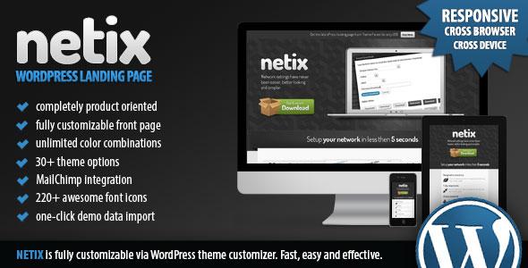 产品介绍类WordPress主题 – Netix