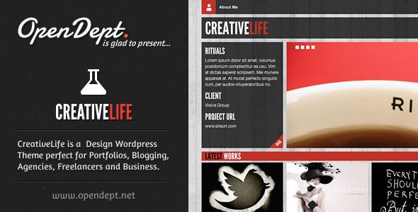 创意类WordPress主题 – CreativeLife