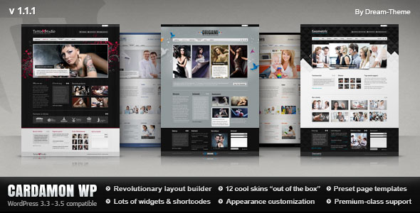 ThemeForest wordpress企业主题 – Cardamon
