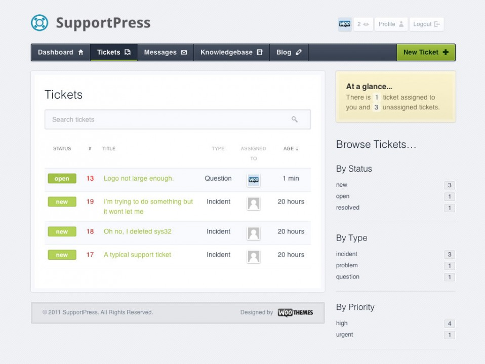 WordPress帮助与支持主题 – SupportPress v1.0.34