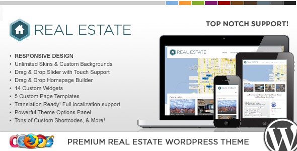 WordPress房地产主题 – WP Pro Real Estate 3