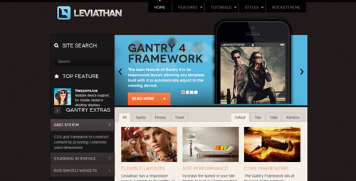 Rockettheme WordPress主题 – Leviathan