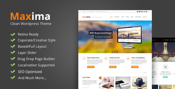 WordPress企业主题 – Maxima