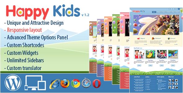 WordPress儿童网站主题 – Happy Kids