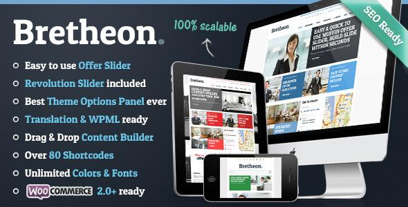 WordPress企业主题 – Bretheon