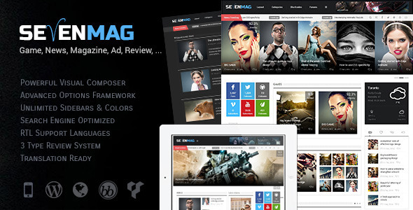 WordPress杂志主题 – SevenMag