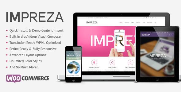 响应式WordPress企业主题 – Impreza