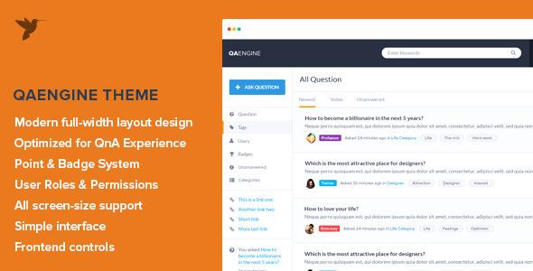 QAEngine WordPress问答社区网站主题