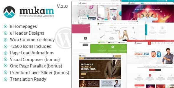 Mukam 多功能WordPress企业主题