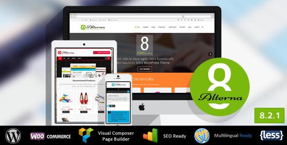Alterna WordPress自适应企业主题
