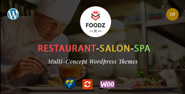 Foodz 餐厅SPA美发沙龙行业WordPress主题