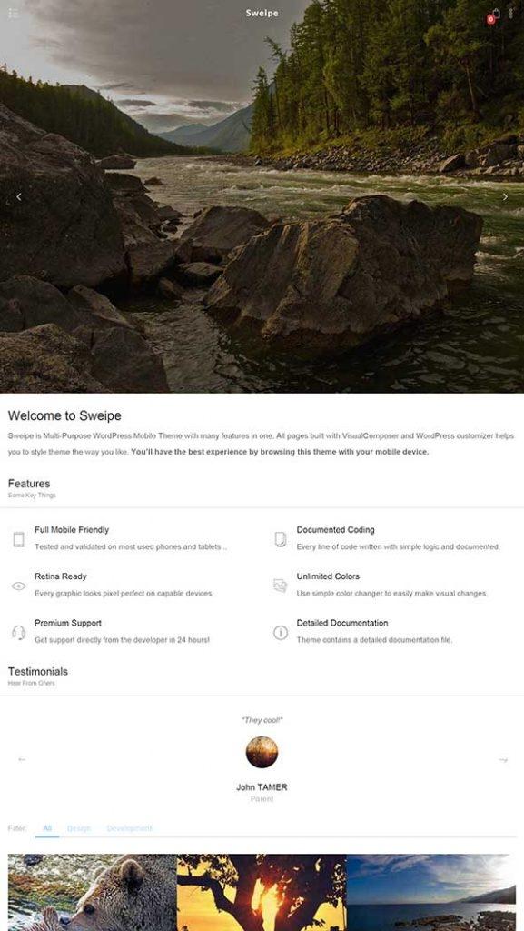 WordPress 移动端cms主题–Sweipe