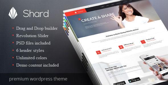 wordpress shard简洁高端企业主题模板