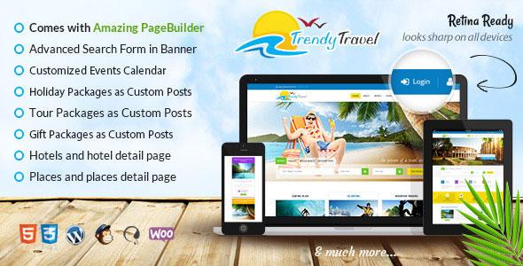 Trendy Travel 旅游 WordPress主题 v2.2