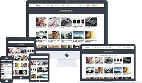 WordPress tob主题最新原版,自适应博客,图片,视频主题