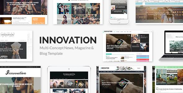 INNOVATION 多用途新闻杂志博客 WordPress主题 v2.1