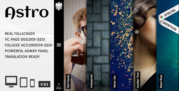 Astro 案例展示/摄影 WordPress主题[v4.3]